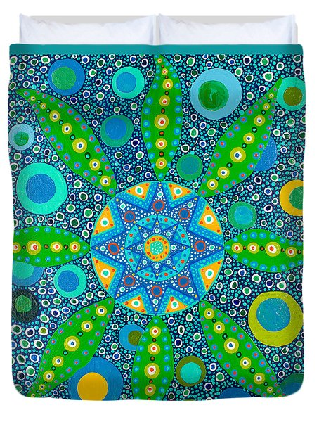 Ayahuasca Vision - Inside The Plant Cell  May 2015 Duvet Cover