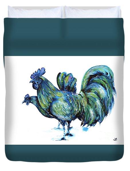 Ayam Cemani Pair Duvet Cover
