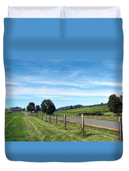 Ayrhill Farm Panoramic - The Berkshires Duvet Cover