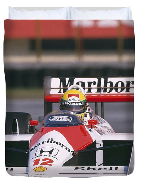 Ayrton Senna. 1988 Mexican Grand Prix Duvet Cover
