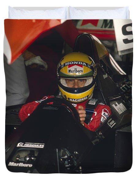Ayrton Senna. 1990 Italian Grand Prix Duvet Cover
