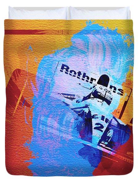 Ayrton Senna Duvet Cover by Naxart Studio