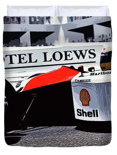 Ayrton Senna - Montecarlo Duvet Cover