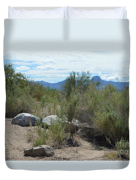Az Desert Rocks Duvet Cover by Renie Rutten