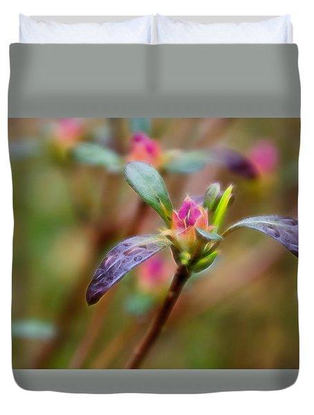 Azalea Bud Energy Duvet Cover