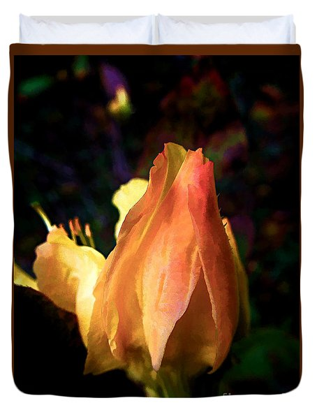 Duvet Cover featuring the photograph Azalea Bud by Renee Trenholm