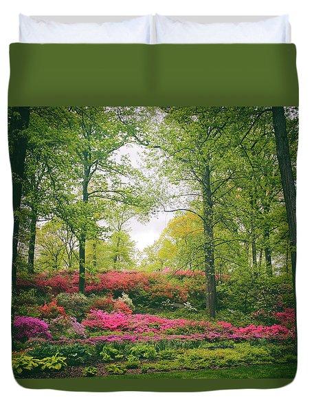 Azalea Hillside Duvet Cover by Jessica Jenney