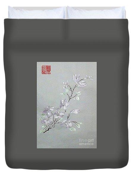 Azaleas Blooming Duvet Cover
