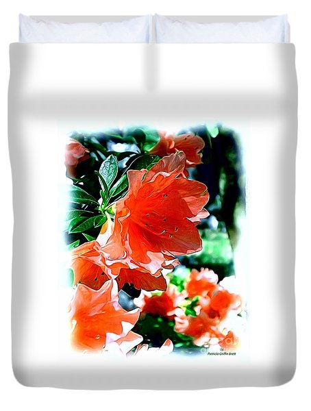 Duvet Cover featuring the painting Azaleas In The Spring by Patricia Griffin Brett