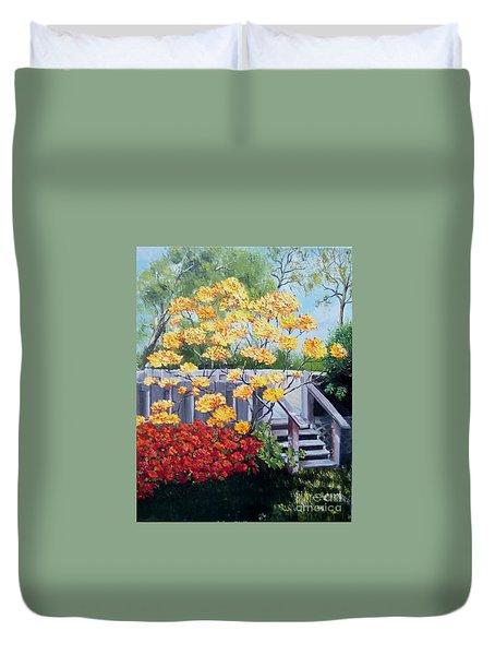 Azaleas Duvet Cover