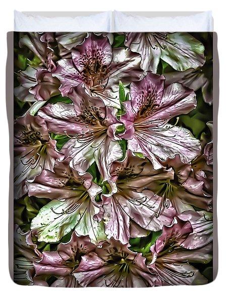 Azaleas Duvet Cover by Walt Foegelle