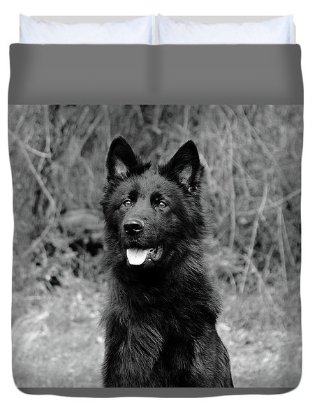 Duvet Cover featuring the photograph Aziza  by Sandy Keeton