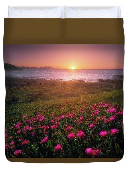 Azkorri In Springtime Duvet Cover