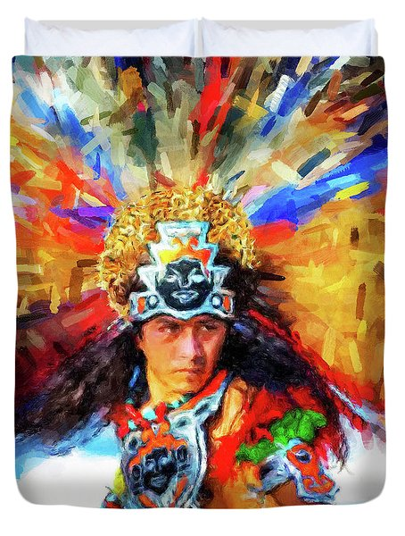 Aztec Dancer Duvet Cover