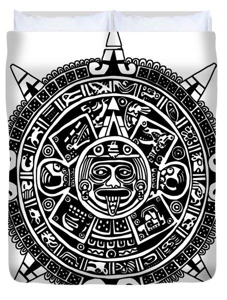 Aztecs Calendar Duvet Cover