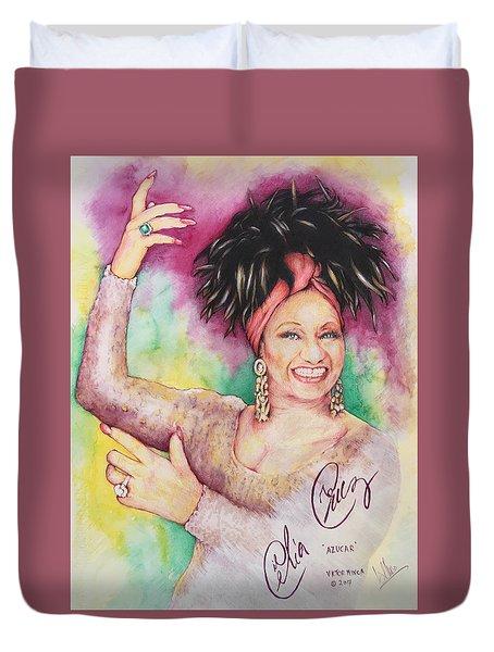 Azucar Celia Cruz Duvet Cover