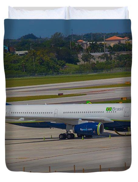 Azul Barzillian Airline Duvet Cover