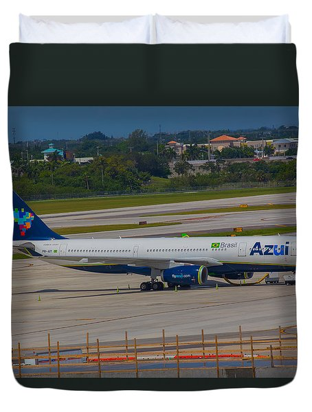 Azul Barzillian Airline Duvet Cover