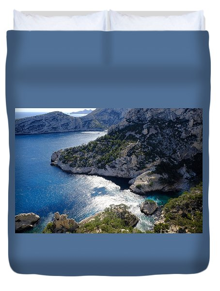 Azure Calanques Duvet Cover