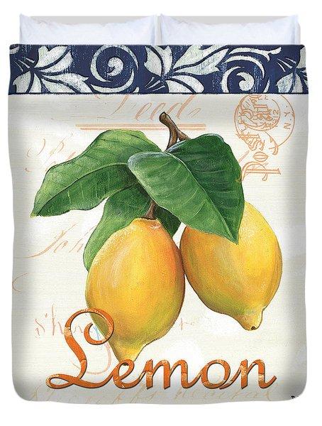Azure Lemon 1 Duvet Cover by Debbie DeWitt