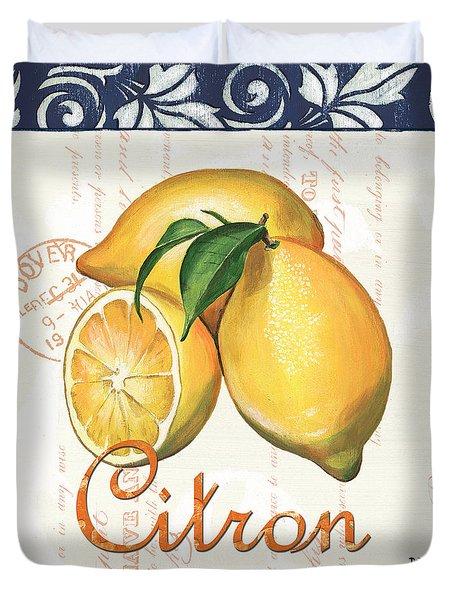 Azure Lemon 2 Duvet Cover by Debbie DeWitt