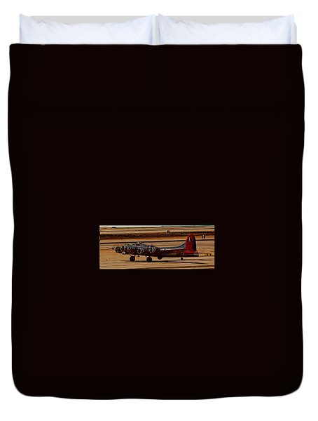 Duvet Cover featuring the photograph B-17 Bomber by Dart Humeston
