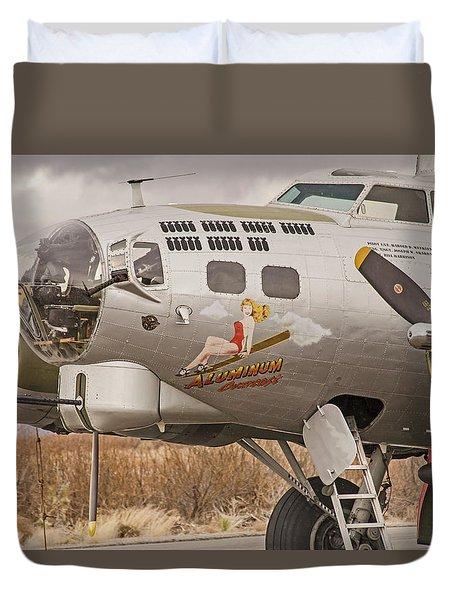 B-17 Nose Art Duvet Cover