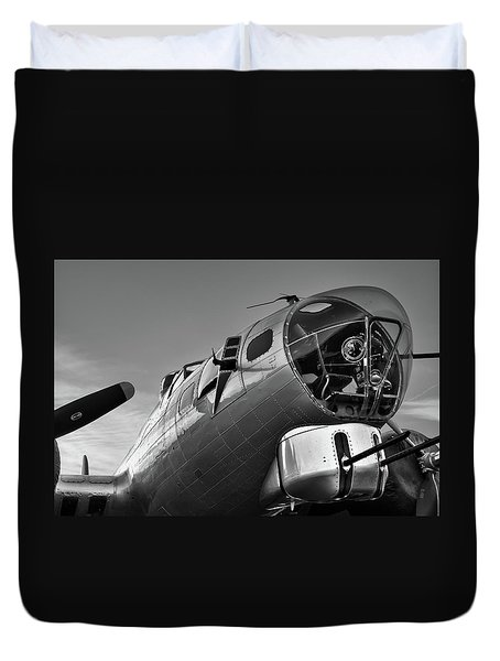 B-17 Nose Duvet Cover
