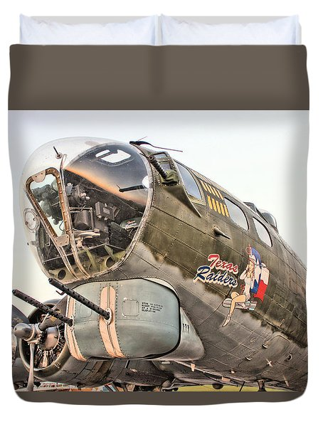 B-17 Texas Raiders Duvet Cover by Michael Daniels