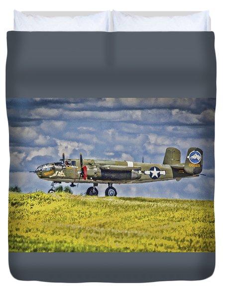 B-25 Landing Akron/canton Ohio Duvet Cover
