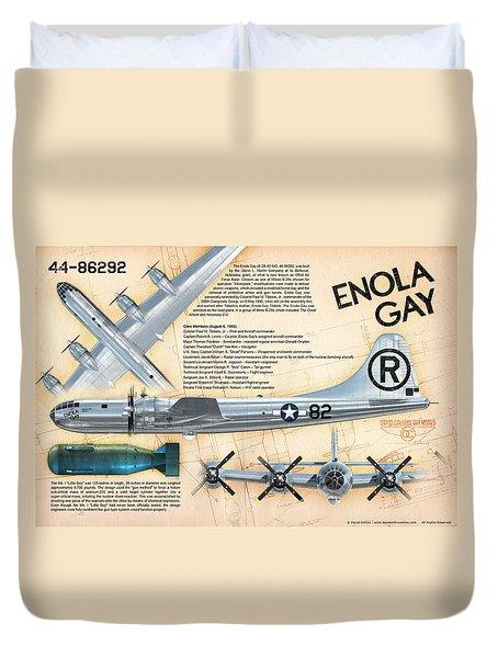 B-29 Enola Gay  Duvet Cover by David Collins