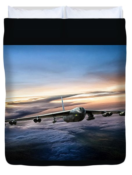 B-52 Inbound Duvet Cover by Peter Chilelli