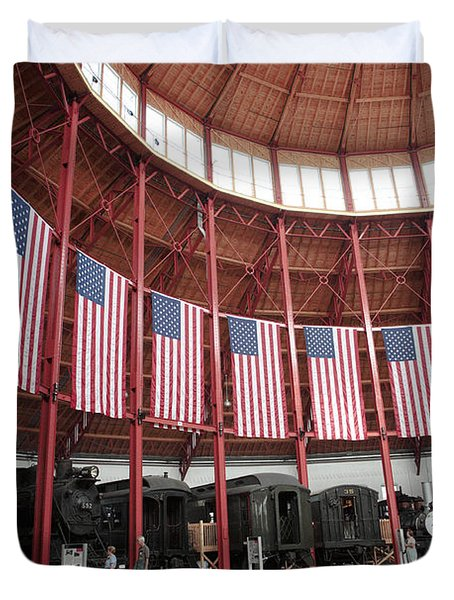 B And O Museum Roundhouse In Baltimore Maryland Duvet Cover