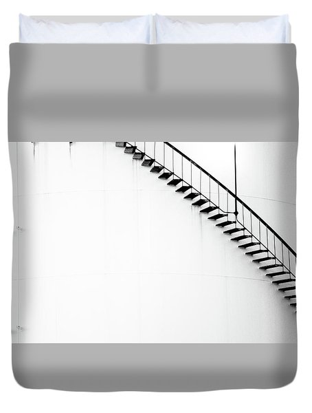 B And W Stairs Duvet Cover