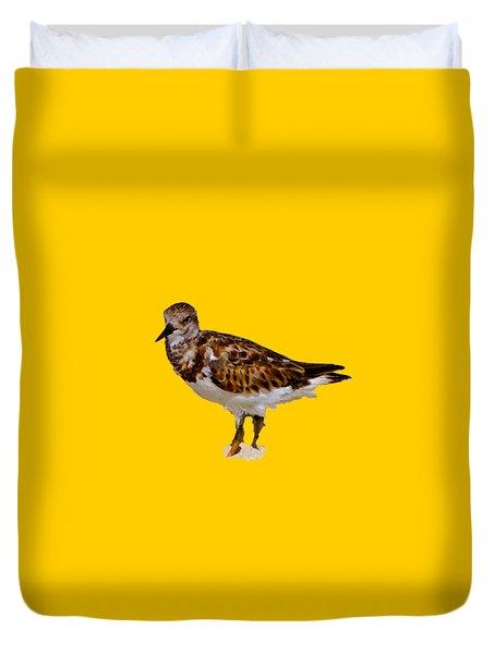 Duvet Cover featuring the digital art B Bird by Francesca Mackenney