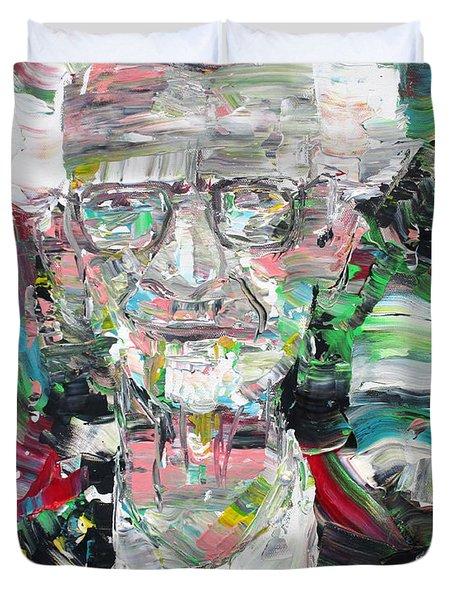 B. F. Skinner Portrait Duvet Cover