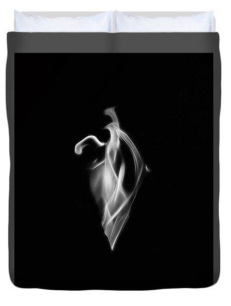 B/w Flame 7092 Duvet Cover