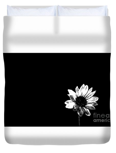 B/w Flower  Duvet Cover
