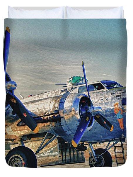 B17 Flying Fortress Sentimental Journey Duvet Cover