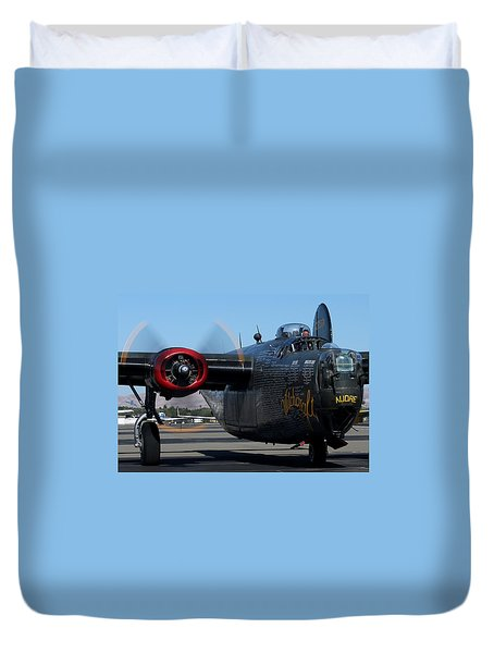Duvet Cover featuring the photograph B24 Liberator Ready To Taxi Memorial Day Weekend 2015 by John King
