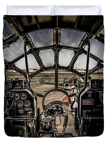 B29 Superfortress Fifi Cockpit View Duvet Cover