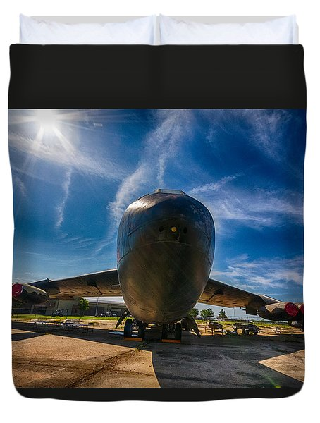 Duvet Cover featuring the photograph B52 by Jay Stockhaus