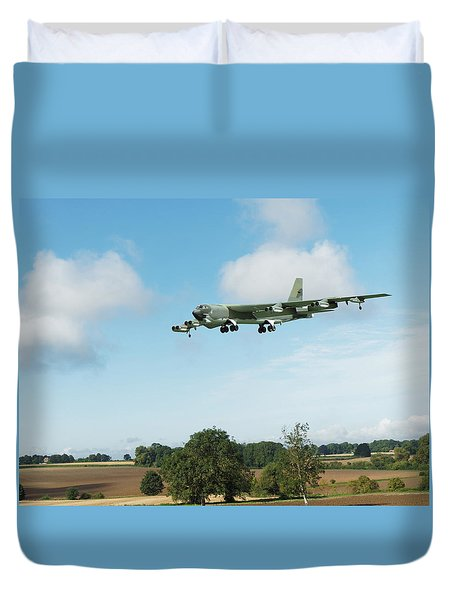 Duvet Cover featuring the digital art B52 Stratofortress by Paul Gulliver