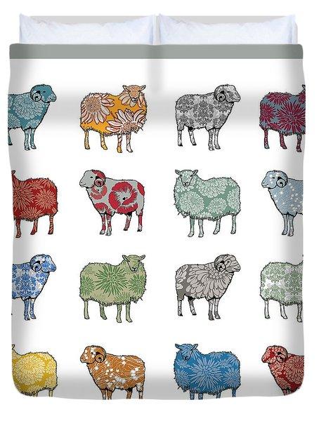 Baa Humbug Duvet Cover by Sarah Hough