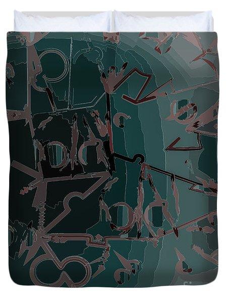 Babble Duvet Cover by Moustafa Al Hatter