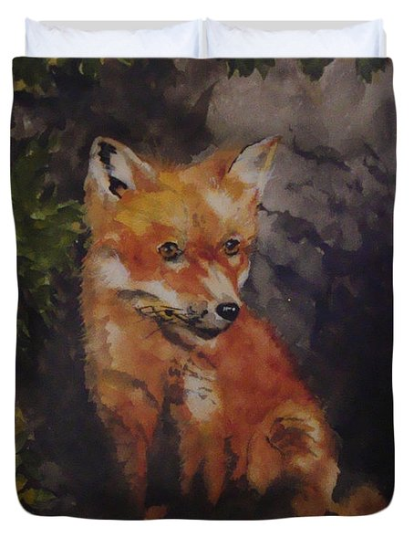 Babe In The Woods Duvet Cover by Jean Blackmer