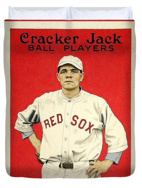 Babe Ruth Cracker Jack Card Duvet Cover