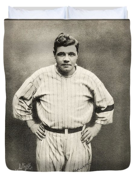 Babe Ruth Portrait Duvet Cover