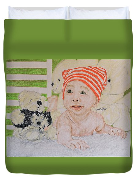 Baby And Stuff Bears Duvet Cover