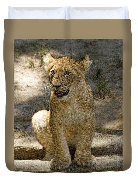 Duvet Cover featuring the photograph Baby Baby by Cheri McEachin